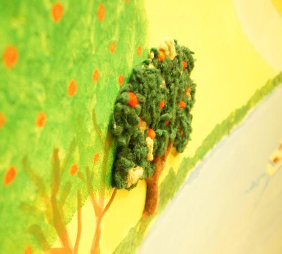 アートフラワー 造花 壁画 NICO フェルト作家