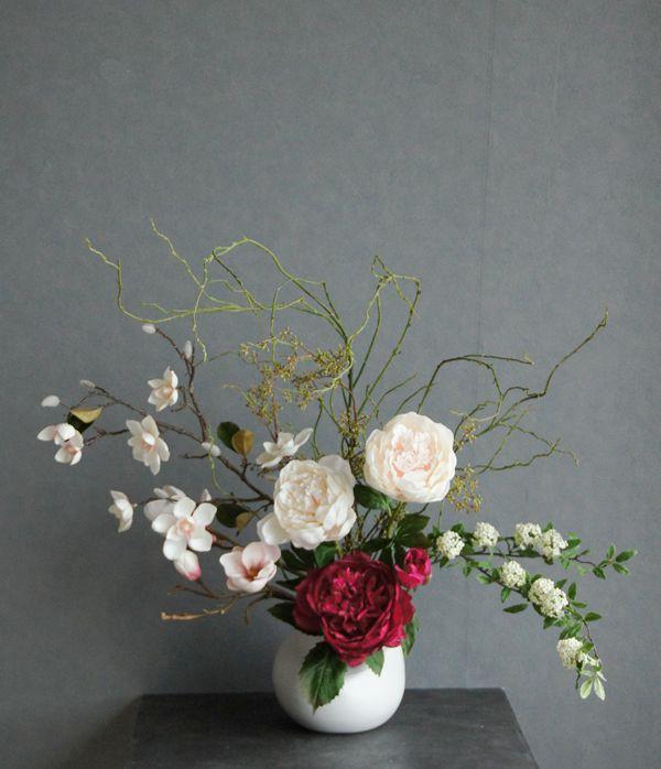 造花 アートフラワー いけばなアートフラワー シャクヤク 芍薬