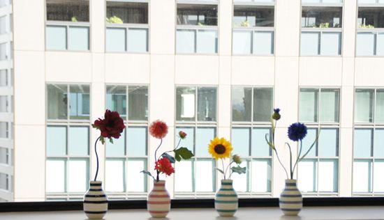 アートフラワー 造花 北欧 一輪刺し 花器