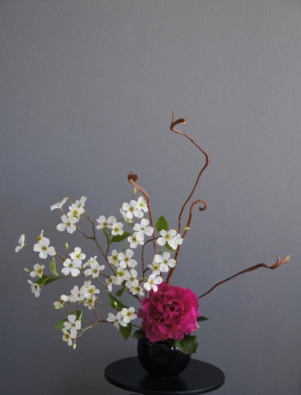 造花 アートフラワー アーティフィシャルフラワー 和風 芍薬