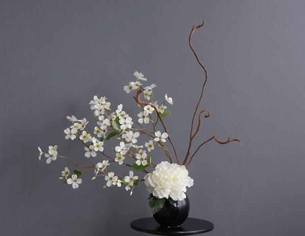 造花 アートフラワー アーティフィシャルフラワー 和風 芍薬 花水木