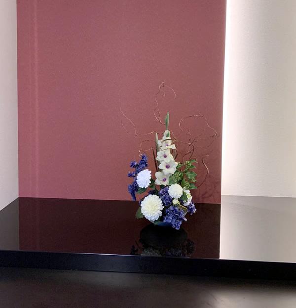 床の間 和モダン 造花 いけばな アートフラワー