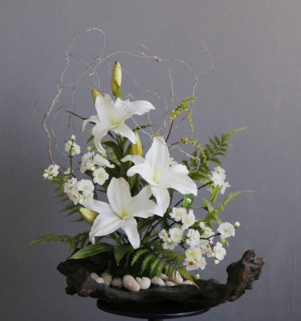 造花のカサブランカ アートフラワー カサブランカ 和モダン