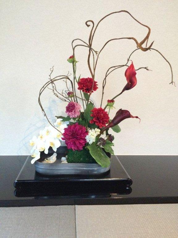 Akanbi あーかんび 造花 アートフラワー 床の間に飾る
