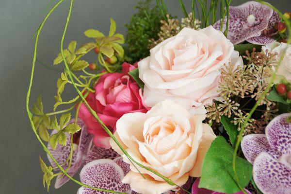 胡蝶蘭 造花 アートフラワー アーティフィシャルフラワー バラ リビングルーム