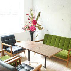 オフィス カフェ風 造花 アレンジメント アートフラワー
