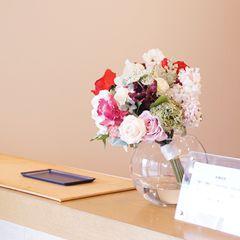 受付 クリニック 病院 アートフラワー 造花