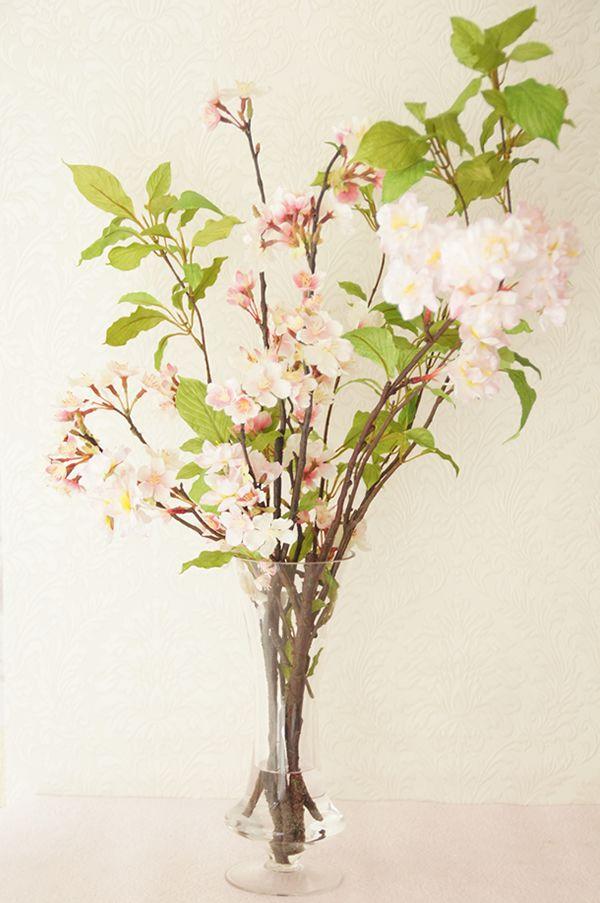 桜の造花 ピンク 人工水